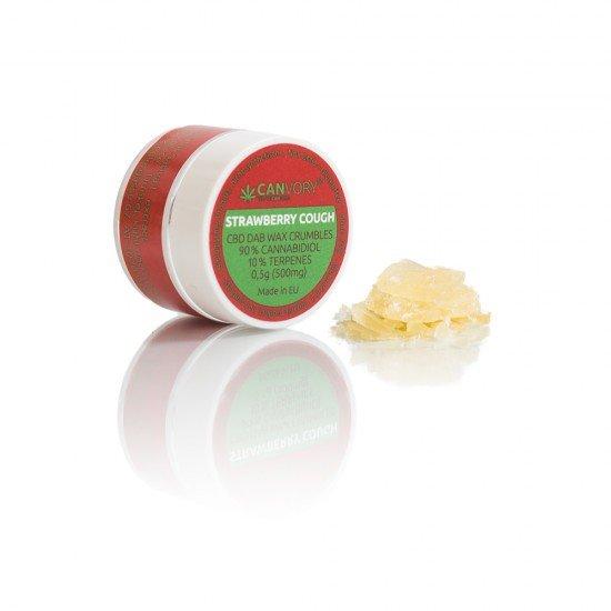 Strawberry Cough CBD Cannabidiol DAB WAX 90 %, 500mg