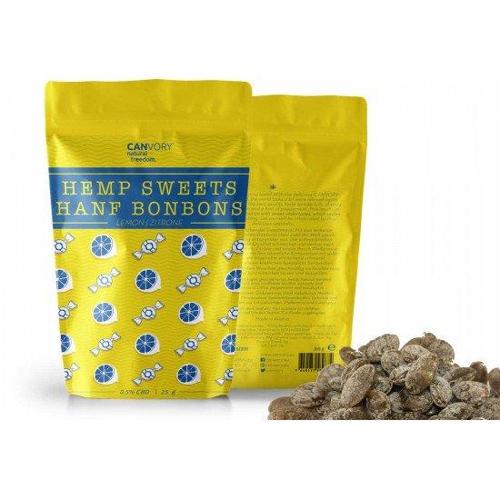 CBD Cannabidiol Hemp Sweets Lemon-flavored cannabis sweets, 0,5% CBD